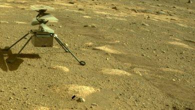 """Photo of Erstflug von Hubschrauber """"Ingenuity"""" über dem Mars verschoben"""